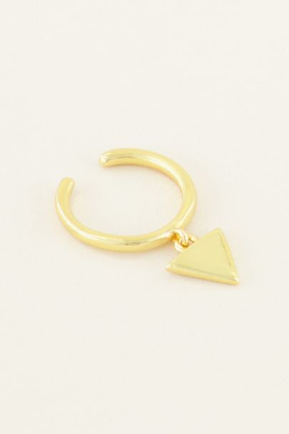 Ear cuff hangend driehoekje | My Jewellery