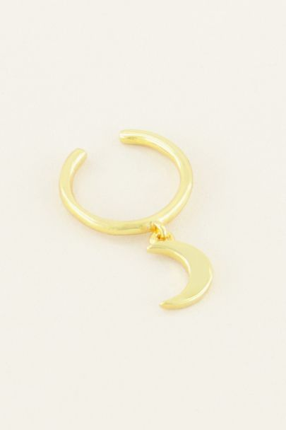 Ear cuff hangend maantje | My Jewellery