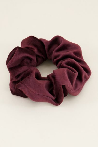 Donkerrode scrunchie velvet | My Jewellery