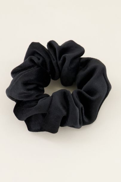 Zwarte velvet scrunchie | My Jewellery