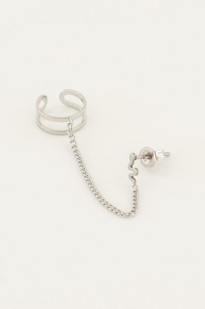 Stud slang met ear cuff | My Jewellery