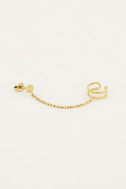 Stud smiley met ear cuff | My Jewellery