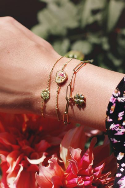 Armband wildflower hartje