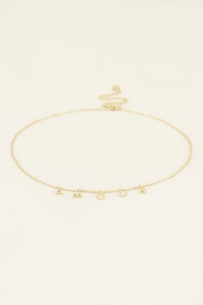 Ketting losse letters amour | My Jewellery