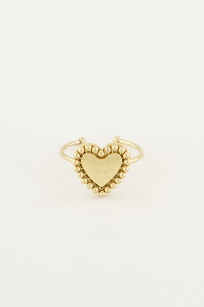 Stalen Ring Hart Quote | Minimalistische Ringen My Jewellery
