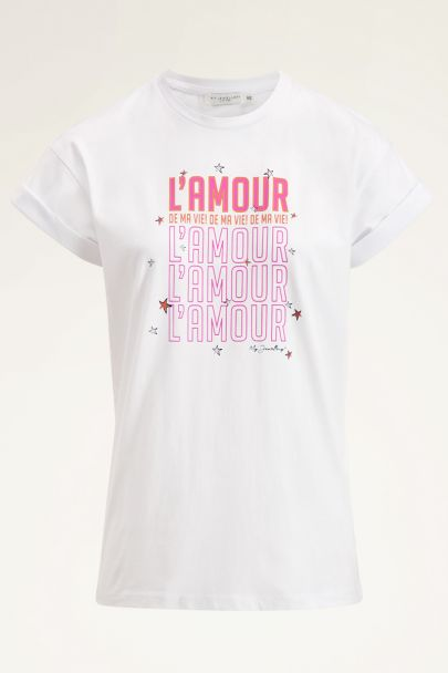 Wit shirt l'amour | Wit T-shirt | My Jewellery
