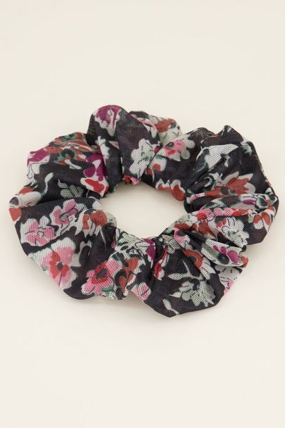 Zwarte mesh scrunchie | Scrunchies | My Jewellery