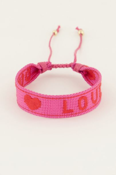 Roze armband love | My Jewellery