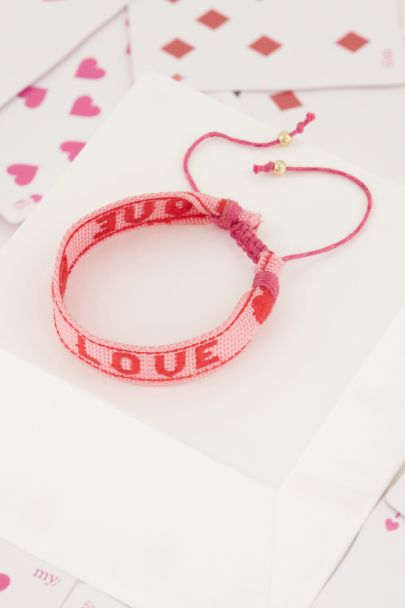 Lichtroze armband love | My Jewellery