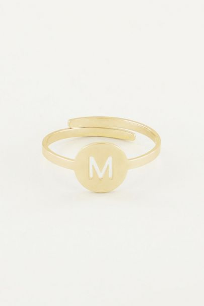 Ring met letter, ringen My Jewellery