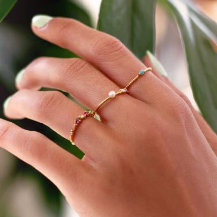 Multikleur ring strass