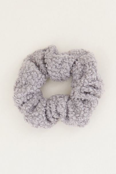 Grijze scrunchie teddy | Scrunchies My Jewellery