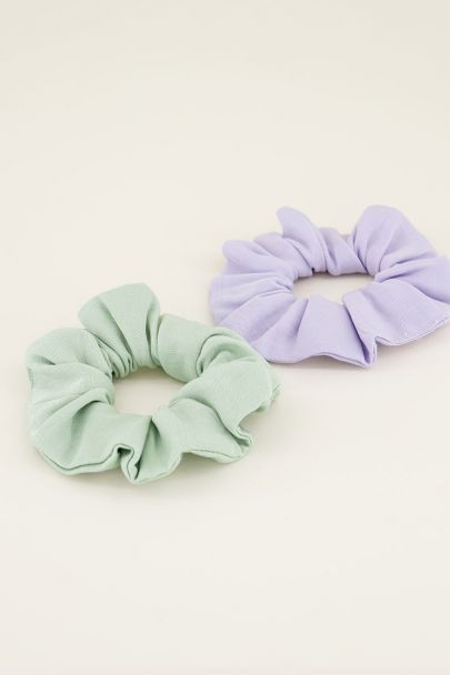 Scrunchie set mint & lila | Haaraccessoires My jewellery