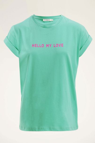 Groen t-shirt have a nice day | My Jewellery