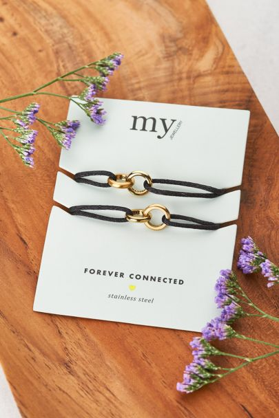 Zwarte forever connected armband