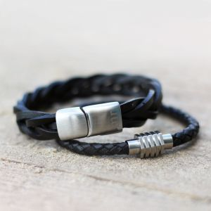 Mr. Jewellery Braided Bracelet Big - Black
