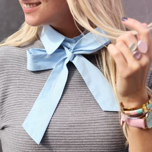 Pussy Bow Collar - Blue