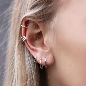 Small Silver Hoops 2.0