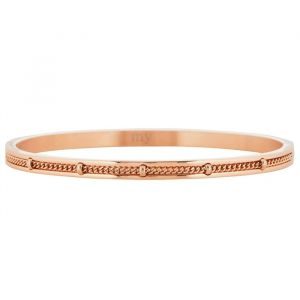 Dotted Chain Bangle - Silver/Gold/Rose-Rose goud