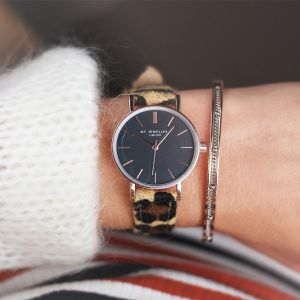 Leopard Watch - Brown/Rose