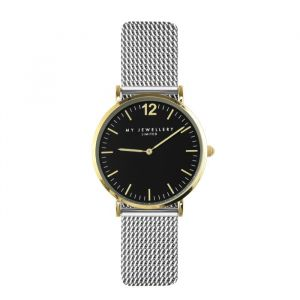 My Jewellery Small Bicolor Watch - Silver/Gold/Black