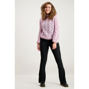 Flared Pants Rib - Black