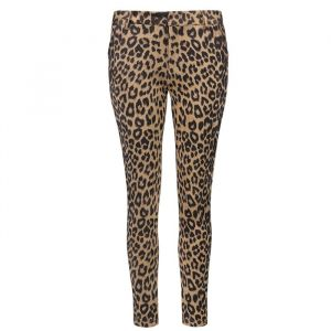 My Jewellery leopard pantalon suedine zwart bruin