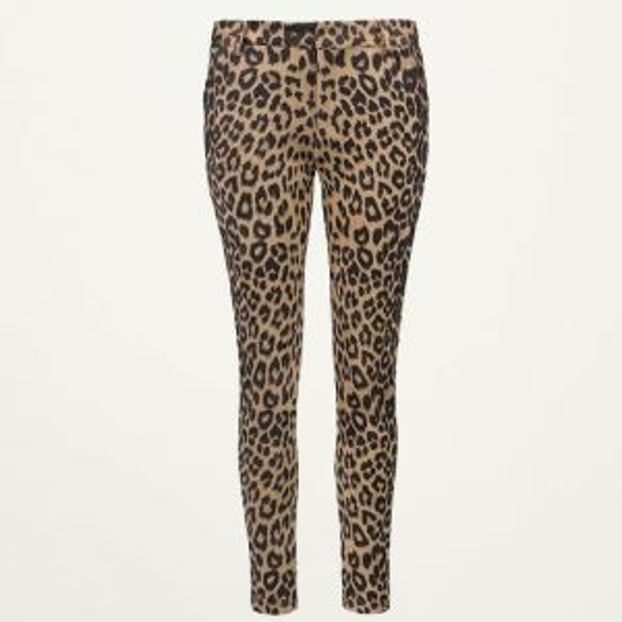Leopard pantalon suedine zwart bruin