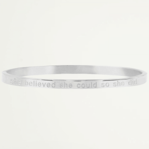 Bangle quote zilver believe, bangles