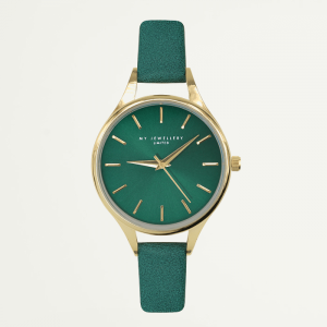 Classic Watch Green-Goud kleurig