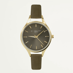 Classic Watch Army Green-Goud kleurig