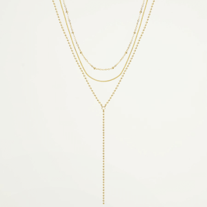 Drie dubbele ketting, minimalistische ketting