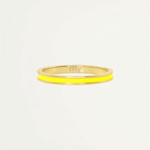 Geel & goud basic ring, damesring