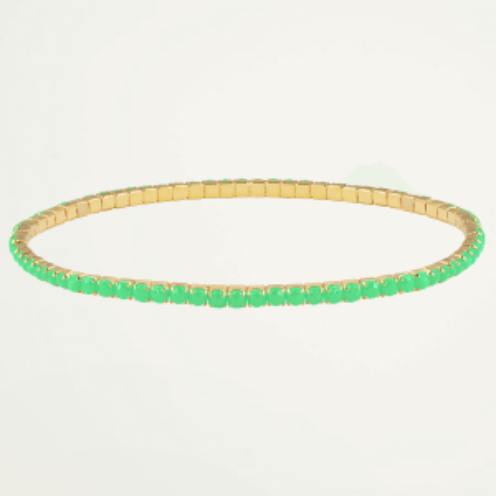 Gouden armband strass steentjes, gouden armband