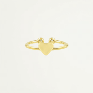 Sweet Little Heart Ring - Gold/Silver-Goud kleurig