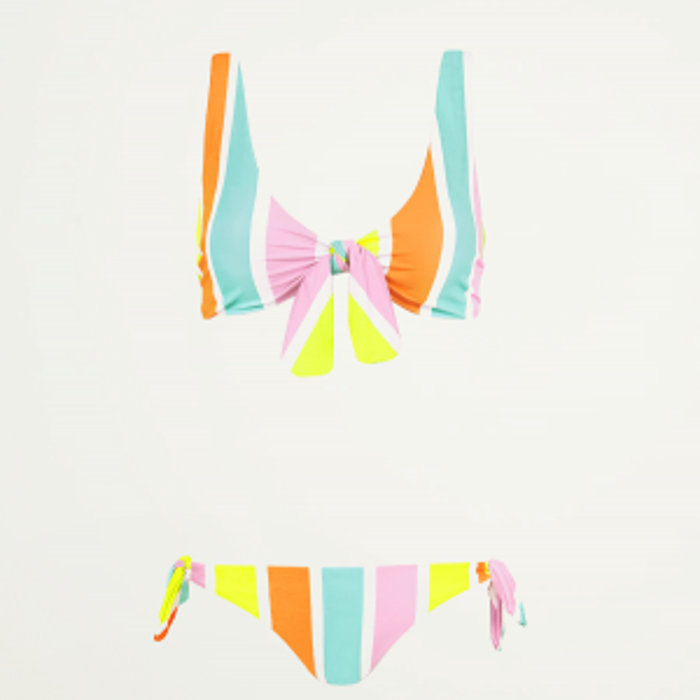 Multikleur bikini gestreept-XS