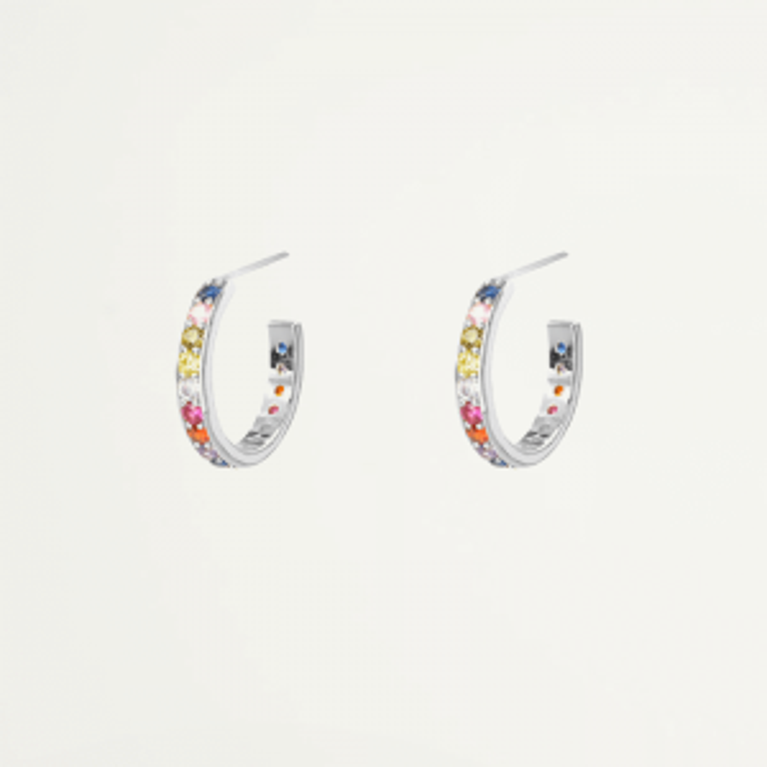 Oorbellen klein stenen kleur, Oorringetje