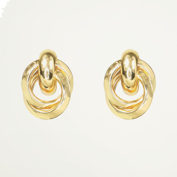 Oorhangers gemixte ringen, gouden oorhangers
