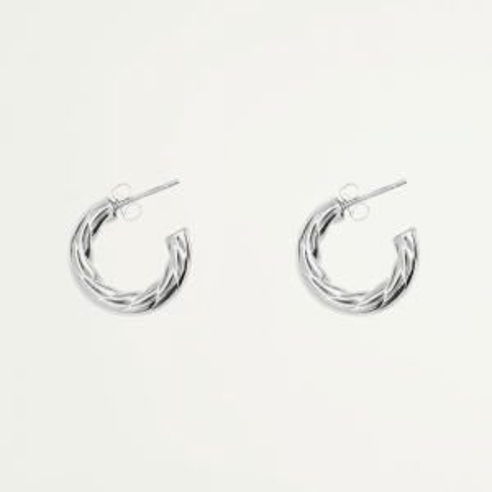 Oorringen open touwpatroon, oorbellen ring klein touwpatroon