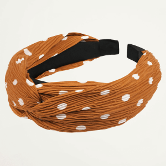 Oranje haarband stippen, oranje haarband