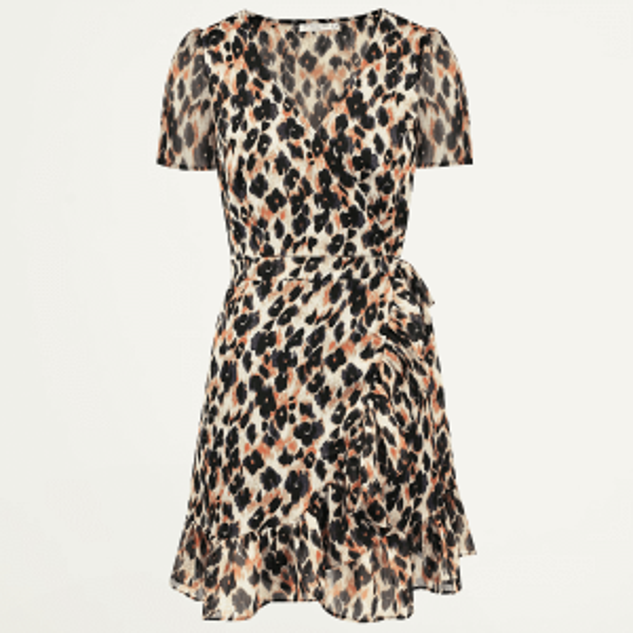 Overslag jurk luipaard