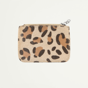 Beige Small Leopard Wallet