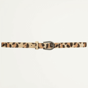 Beige Small Leopard Belt