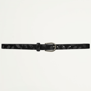 Black Small Leopard Belt