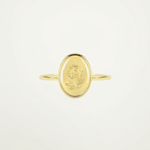 Ring Ovaal Roos, Minimalistische ring