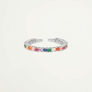 Ring regenboog strass, multikleur ring