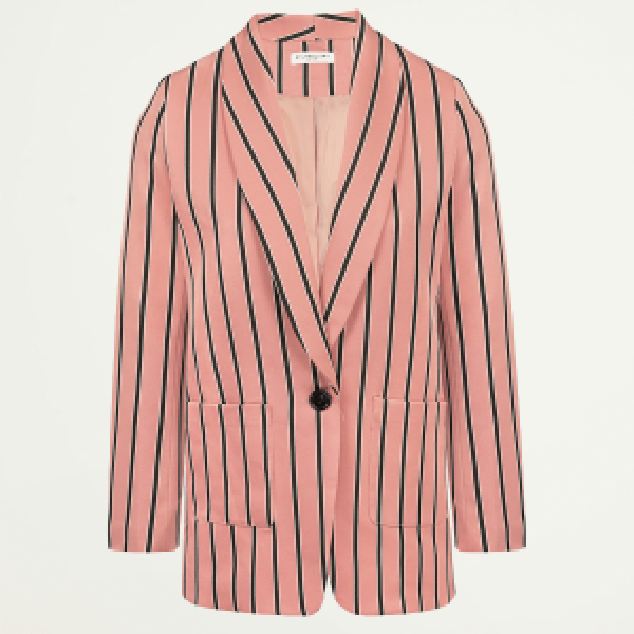 Roze gestreepte blazer, pak dames