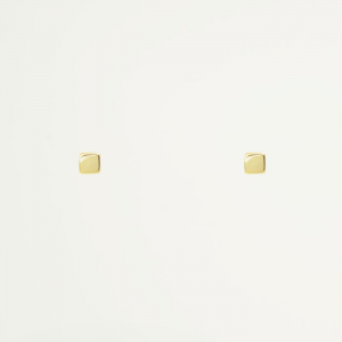 Studs kubus minimalistisch, Oorknopjes