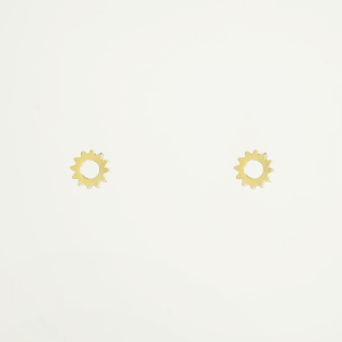 Studs zonnetje, gouden studs