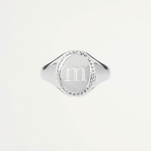 Initial Signet Ring - Silver-16-A